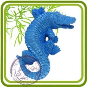 Аллигатор, крокодил 1 - 2D силиконовая форма для мыла, свечей, шоколада и пр.