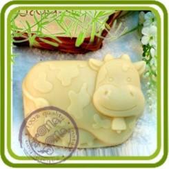 Бурёнка корова - 2D силиконовая форма для мыла, свечей, шоколада, гипса и пр.