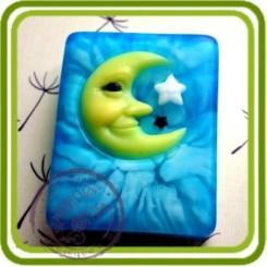 Месяц DREAM - 2D силиконовая форма для мыла, свечей, шоколада, гипса и пр.