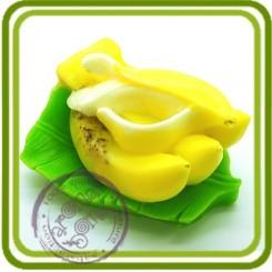 Бананы на листе - 3D силиконовая форма для мыла, свечей, шоколада, гипса и пр.