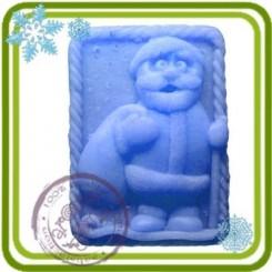Дед Мороз Смешной - 2D силиконовая форма для мыла, свечей, шоколада, гипса и пр.