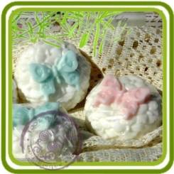 Бабочка на гибискусах - 2D силиконовая форма для мыла, свечей, шоколада и пр.