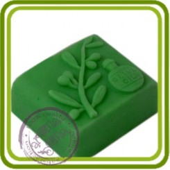 Олива Olive Oil - 2D силиконовая форма для мыла, свечей, шоколада, гипса и пр.