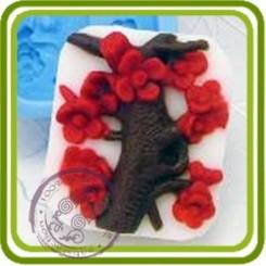 Ветка Сакуры - 2D силиконовая форма для мыла, свечей, шоколада, гипса и пр.