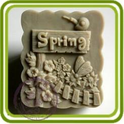 Весна Spring - 2D силиконовая форма для мыла, свечей, шоколада, гипса и пр.