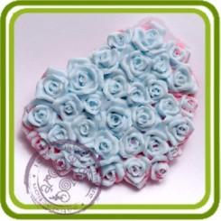 Розовый сад (ковер) - 2D молд , силиконовая форма для мыла, шоколада, гипса и пр.
