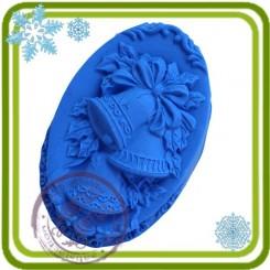 Колокольчики (овал) - 2D Объемная силиконовая форма для мыла, свечей, гипса, шоколада и пр.