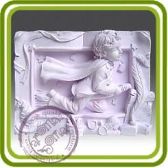 Юный поэт - 2D силиконовая форма для мыла, свечей, шоколада, гипса и пр.