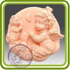 Фея, феечка и котик - 2D силиконовая форма для мыла, свечей, шоколада, гипса и пр.