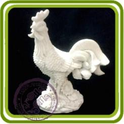 Петух (б) - 3D Объемная силиконовая форма для мыла, свечей, гипса, шоколада и пр.