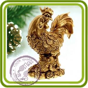 Золотой Петушок - 3D силиконовая форма для мыла, свечей, шоколада, гипса и пр.