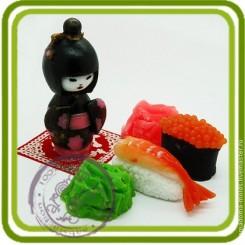 Гейша - 3D силиконовая форма для мыла, свечей, шоколада, гипса и пр.