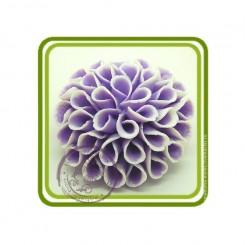 Георгин 2, 3D силиконовая форма для мыла, свечей, шоколада, гипса и пр