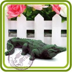 Аллигатор, крокодил 2 - 3D Объемная силиконовая форма для мыла, свечей, гипса, шоколада и пр.