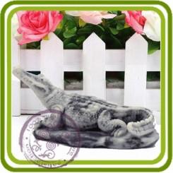Аллигатор, крокодил 3 - 3D Объемная силиконовая форма для мыла, свечей, гипса, шоколада и пр.