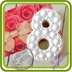 8 марта (жемчужная) - 2D АВТОРСКАЯ силиконовая форма для мыла, свечей, шоколада и пр.