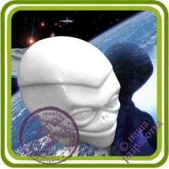 Инопланетянин - 3D Эксклюзивная Объемная силиконовая форма для мыла, свечей, гипса, шоколада и пр.