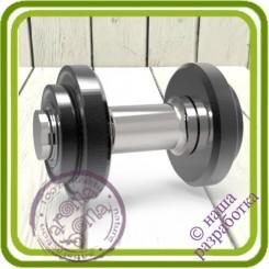 Гантель - 3D АВТОРСКАЯ силиконовая форма для мыла, свечей, шоколада и пр.