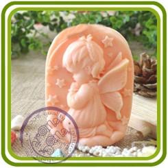Ангел девочка читающая молитву - 2D силиконовая форма для мыла, свечей, шоколада и пр.