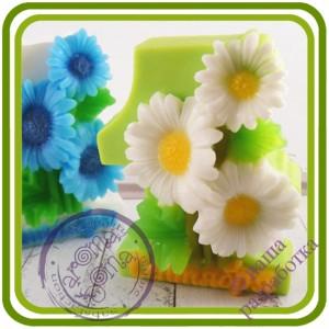 1 Сентября (герберы, ромашки) - Авторская 2D силиконовая форма для мыла, свечей, шоколада, гипса и пр.