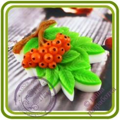Веточка рябины  - Авторская 2D силиконовая форма для мыла, свечей, шоколада, гипса и пр.