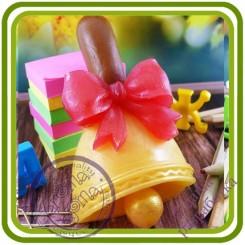 Колокольчик (Первый, Последний звонок) - Авторская 2D силиконовая форма для мыла, свечей, шоколада, гипса и пр.