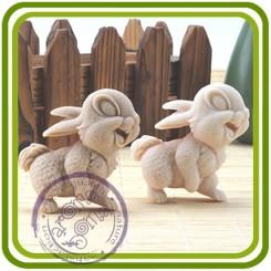 Веселый заяц (кролик) - 2D силиконовая форма для мыла, свечей, шоколада, гипса и пр.