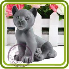 Львёнок, тигрёнок (детёныш) - 3D Объемная силиконовая форма для мыла, свечей, гипса, шоколада и пр.