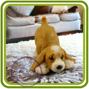 Спаниель (хвостик вверх), собака - 3D Объемная силиконовая форма для мыла, свечей, гипса, шоколада и пр.