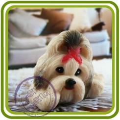 Шицу, Ши-тцу (подушка отдельно), собака - 3D Объемная силиконовая форма для мыла, свечей, гипса, шоколада и пр.