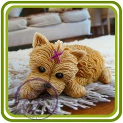 Йорк (подушка отдельно), собака - 3D Объемная силиконовая форма для мыла, свечей, гипса, шоколада и пр.