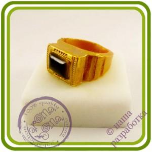 Перстень мужской на бархатном подиуме - Авторская 3D силиконовая форма для мыла, свечей, шоколада, гипса и пр.