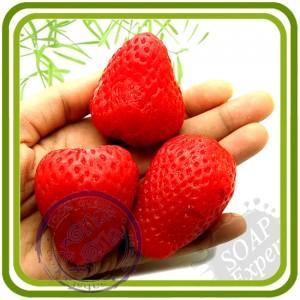 Клубнички (3 в 1, и хвостик) - 3D Эксклюзивнаясиликоновая форма для мыла, свечей, шоколада, гипса и пр.