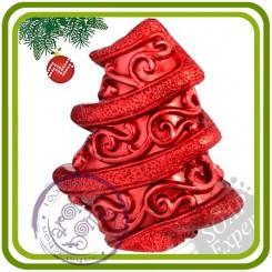 Елочка роджеств. (завиток) - 3D силиконовая форма для мыла, свечей, шоколада, гипса и пр.