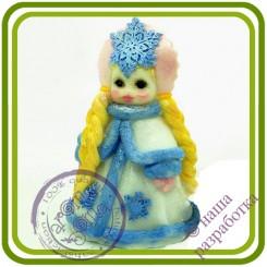 Снегурочка (2 размера) - Авторская 3D силиконовая форма для мыла, свечей, шоколада, гипса и пр.