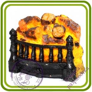 Камин - Авторская 2D силиконовая форма для мыла, свечей, шоколада, гипса и пр.