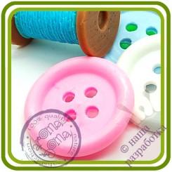 Пуговица - Авторская силиконовая форма для мыла, свечей, шоколада, гипса и пр.