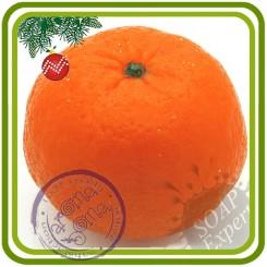 Апельсин, Мандарин (большой) - 3D силиконовая форма для мыла, свечей, шоколада, гипса и пр.