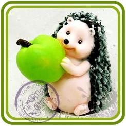 Ежик с яблоком - 3D силиконовая форма для мыла, свечей, шоколада, гипса и пр.