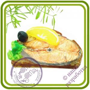 Бутерброд №6 (рыба, лимон, батон) - 3D Авторская силиконовая форма для мыла, свечей, шоколада, гипса и пр.