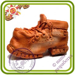 Старый ботинок (башмак) - 2D Авторская силиконовая форма для мыла, свечей, шоколада, гипса и пр.