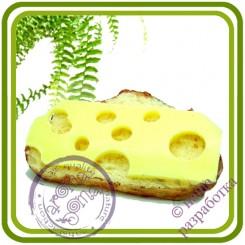 Бутерброд №2 (сыр, батон) - 3D Авторская силиконовая форма для мыла, свечей, шоколада, гипса и пр.