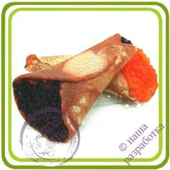 Блинчик с черной икрой - Эксклюзивная силиконовая форма для мыла, свечей, шоколада, гипса и пр.