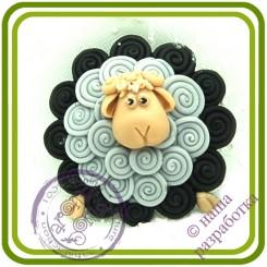 Барашек (зефирный) - 2D Авторская силиконовая форма для мыла, свечей, шоколада, гипса и пр.