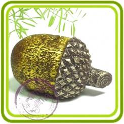 Желудь (2 размера) - силиконовая форма для мыла, свечей, шоколада, гипса и пр.