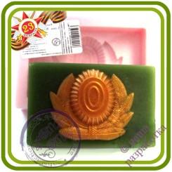 Кокарда - Эксклюзивная силиконовая форма для мыла, свечей, шоколада, гипса и пр.