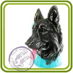 Овчарка - 2D Авторская силиконовая форма для мыла, свечей, шоколада, гипса и пр.