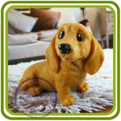 Такса (2 размера), собака - 3D Эксклюзивная силиконовая форма для мыла, свечей, гипса, шоколада и пр.