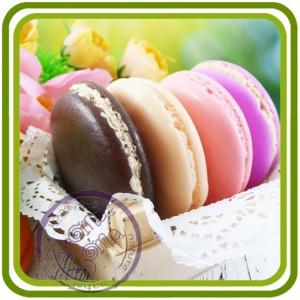 Макарон, печенье - 2D Объемная силиконовая форма для мыла, свечей, гипса, шоколада и пр.