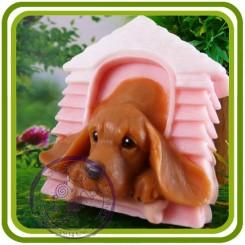 Щенок лабрадора, собака - 3D Объемная силиконовая форма для мыла, свечей, гипса, шоколада и пр.